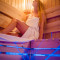 Finská sauna s vůní levandule